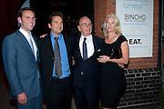JAMES MURDOCH; LACHLAN MURDOCH; RUPERT MURDOCH; ELIZABETH MURDOCH,  Summer party hosted by Rupert Murdoch. Oxo Tower, London. 17 June 2009