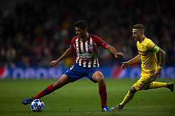 November 6, 2018 - Madrid, Spain - Rodri of Atletico Madrid and Marco Reus of Borussia Dortmund during the Group A match of the UEFA Champions League between AtleticoLucien Favre of Borussia Dortmund Madrid and Borussia Dortmund at Wanda Metropolitano Stadium, Madrid on November 07 of 2018. (Credit Image: © Jose Breton/NurPhoto via ZUMA Press)