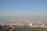 Israel, Haifa, an observation point on top of the Haifa university building overlooking the city and the surrounding area