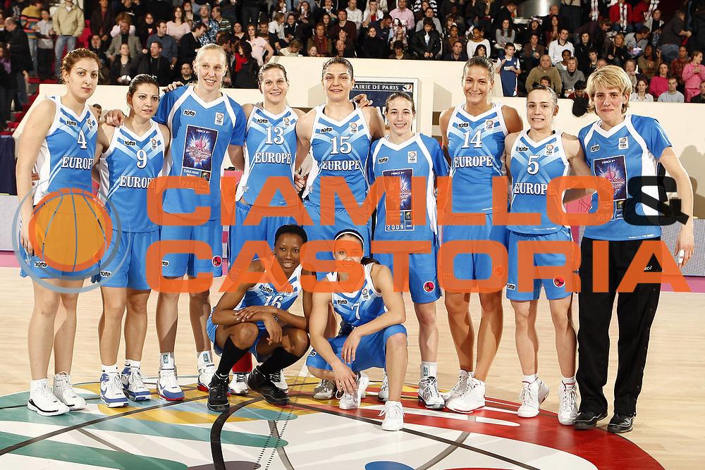 DESCRIZIONE : Parigi Paris EuroLeague Women All Star Game 2009<br /> GIOCATORE : Team of Europe<br /> SQUADRA : Europe Rest of the World<br /> EVENTO : EuroLeague Women All Star Game 2009<br /> GARA : Europe Rest of the World<br /> DATA : 08/03/2009 <br /> CATEGORIA :<br /> SPORT : Pallacanestro <br /> AUTORE : Agenzia Ciamillo-Castoria/E.Castoria<br /> Galleria : EuroCup-EuroChallenge 2009<br /> Fotonotizia :  Parigi Paris EuroLeague Women All Star Game 2009<br /> Predefinita :