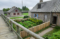Gardens of Colonial Michilimackinac, Mackinaw City Michigan.