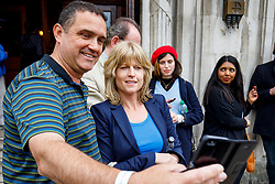 "© Licensed to London News Pictures. 13/05/2017. London, UK. A pro-EU campaigner RACHEL JOHNSON, sister of Foreign Secretary Boris Johnson, attends at ""The Convention on Brexit"" event at Westminster Central Hall in London on Saturday, 13 May 2017. Photo credit: Tolga Akmen/LNP"