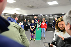 Former Bristol City player, Scott Murray welcomes fans into the Bristol City changing rooms during the Carabao cup tour  - Mandatory by-line: Dougie Allward/JMP - 19/12/2017 - Sport - Ashton Gate - Bristol, England - Carabao Cup tour