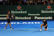 Artem Sitak (NZL)/Jose(Rubin) Statham (NZL) during the Heineken Open New Zealand at the ASB Tennis Centre, Auckland, New Zealand. Wednesday 9 January 2013. Photo: Chris Symes/www.photosport.co.nz