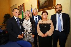 DA SX MICHELE CAMPANARO SIMONA CASELLI PAOLO BRUNI TERESSA BELLANOVA E LUIGI MARATTIN<br /> MINISTRO TERESA BELLANOVA IN PREFETTURA A FERRARA