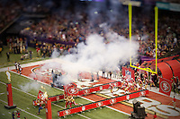 3 February 2013: The San Francisco 49ers enter the field before the Baltimore Ravens 34-31 victory over the 49ers in Superbowl XLVII at the Mercedes-Benz Superdome in New Orleans, LA.