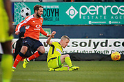 Luton Town midfielder Andrew Shinnie (11) and Notts County Terry Hawkridge(11) during the EFL Sky Bet League 2 match between Luton Town and Notts County at Kenilworth Road, Luton, England on 9 December 2017. Photo by Nigel Cole.