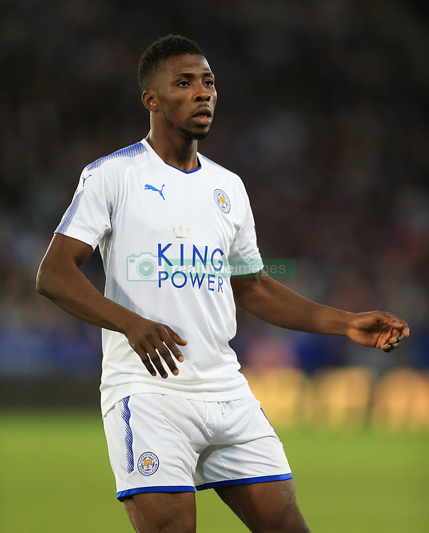 "Leicester City's Kelechi Iheanacho during a pre season friendly match at the King Power Stadium, Leicester. PRESS ASSOCIATION Photo. Picture date: Friday August 4, 2017. Photo credit should read: Nigel French/PA Wire. RESTRICTIONS: EDITORIAL USE ONLY No use with unauthorised audio, video, data, fixture lists, club/league logos or ""live"" services. Online in-match use limited to 75 images, no video emulation. No use in betting, games or single club/league/player publications."