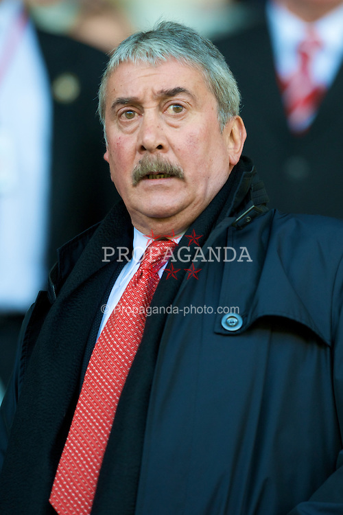 LIVERPOOL, ENGLAND - Sunday, March 30, 2008: Liverpool's Honorary Life President David Moores during the 207th Merseyside derby, in the Premiership match at Anfield. (Photo by David Rawcliffe/Propaganda)