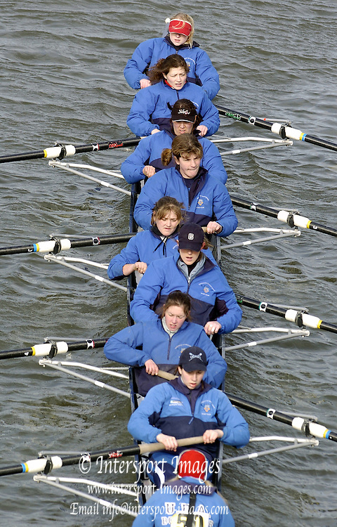 2005 Women's Head of the River, Chiswick,London, ENGLAND; UEU - Univversity of East Anglia.Photo  Peter Spurrier. .email images@intersport-images.....[Mandatory Credit Peter Spurrier/ Intersport Images] Rowing Course: River Thames, Championship course, Putney to Mortlake 4.25 Miles