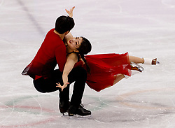 February 12, 2018 - Gangneung, South Korea - Maia Shibutani and Alex Shibutani of USA compete during the Team Event Ice Dance Free Dance at the PyeongChang 2018 Winter Olympic Games at Gangneung Ice Arena on Monday February 12, 2018. (Credit Image: © Paul Kitagaki Jr. via ZUMA Wire)
