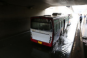 XI\'AN, CHINA - AUGUST 12: (CHINA OUT) <br /> <br /> Bus Gets Submerged In Water At Tunnel <br /> <br />  A bus gets submerged in water on August 12, 2014 in Xi\'an, Shaanxi province of China. Torrential rains hit Xi\'an, which caused more and more standing waters on Xi\'an, Shaanxi province of China. <br /> ©Exclusivepix