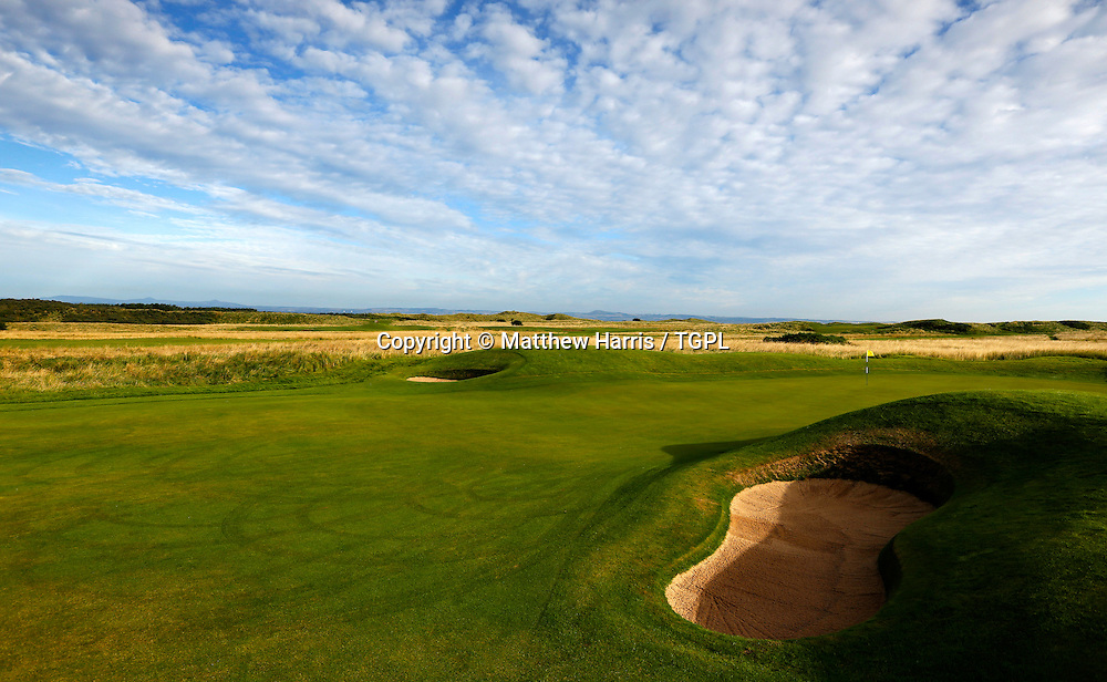 17th par 5 Muirfield,The Honourable Company Of Edinburgh Golfers,Gullane,East Lothian,Scotland.Venue for the 2013 Open Championship,with Ernie ELS (RSA) defending his title,and who was also the winner here in 2002.