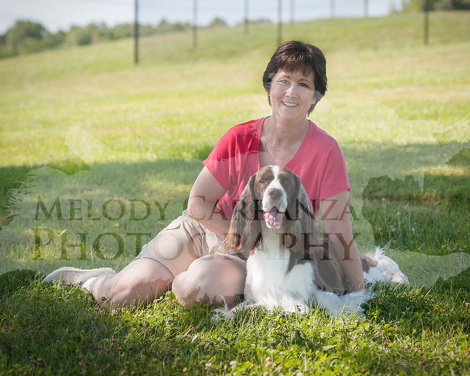 Time out at Purina Farms, for Max and Jan, while photography is made.  The  Photography was made July 15, 2017 at Purina Farms, in Gray Summit, MO.