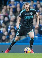 Football - 2016 / 2017 Premier League - Chelsea vs. West Bromwich Albion<br /> <br /> Darren Fletcher of West Bromwich Albion at Stamford Bridge.<br /> <br /> COLORSPORT/DANIEL BEARHAM