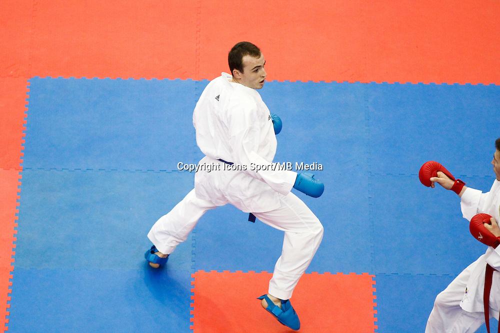 Yoann BASTIEN - 24.01.2015 - Open de Paris - Karate Premier League -<br />Photo : Johnny Fidelin / Icon Sport
