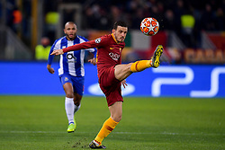 12.02.2019, Stadio Olimpico, Rom, ITA, UEFA CL, AS Roma vs FC Porto, Achtelfinale, Hinspiel, im Bild Alessandro Florenzi // Alessandro Florenzi during the UEFA Champions League round of 16, 1st leg match between AS Roma and FC Porto at the Stadio Olimpico in Rom, Italy on 2019/02/12. EXPA Pictures © 2019, PhotoCredit: EXPA/ laPresse/ Fabio Rossi/AS Roma<br /> LaP<br /> <br /> *****ATTENTION - for AUT, SUI, CRO, SLO only*****