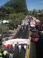 Desfile y inauguración de la V Copa internacional COINFES en el estadio Universitario Nov 24, 2012. El torneo se disputa en 8 sedes en todo el pais con una participacion de 41 equipos Photo: Edgar ROMERO/Imagenes Libres.
