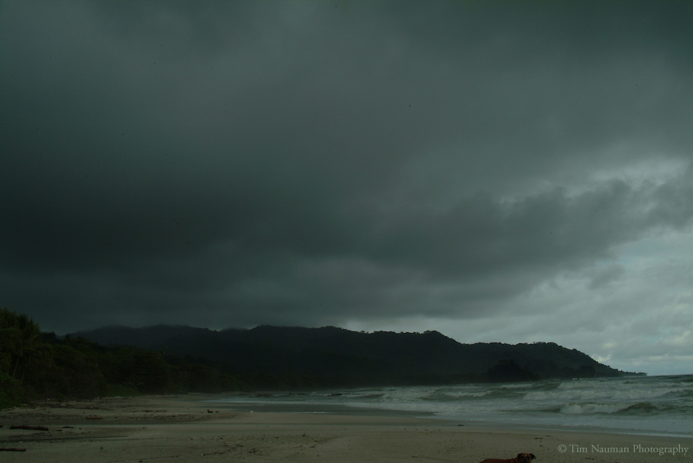stormy beaches of costa rica.