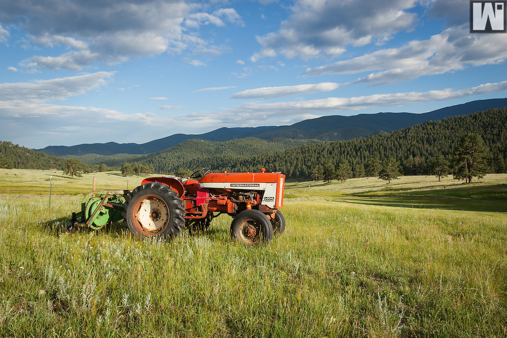 International 404 Tractor at Corral Creek Ranch in Evergreen, CO.