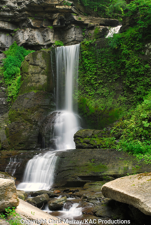 Cowshed Falls in Fillmore Glen State Park, New York, USA