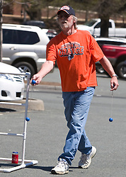 Charles Moore plays tailgate golf before the UVA spring game.  The Virginia Cavaliers football team played the annual spring football scrimmage at Scott Stadium on the Grounds of the University of Virginia in Charlottesville, VA on April 18, 2009.  (Special to the Daily Progress / Jason O. Watson)