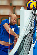 Katowice, Poland - 2017 September 02: Partner Jesse Soderlund from SO Finland spikes the ball while SO Azerbaijan versus SO Finland match during European Unified Volleyball Tournament 2017 at Spodek Hall on September 02, 2017 in Katowice, Poland.<br /> <br /> Adam Nurkiewicz declares that he has no rights to the image of people at the photographs of his authorship.<br /> <br /> Picture also available in RAW (NEF) or TIFF format on special request.<br /> <br /> Any editorial, commercial or promotional use requires written permission from the author of image.<br /> <br /> Image can be used in the press when the method of use and the signature does not hurt people on the picture.<br /> <br /> Mandatory credit:<br /> Photo by &copy; Adam Nurkiewicz / Mediasport