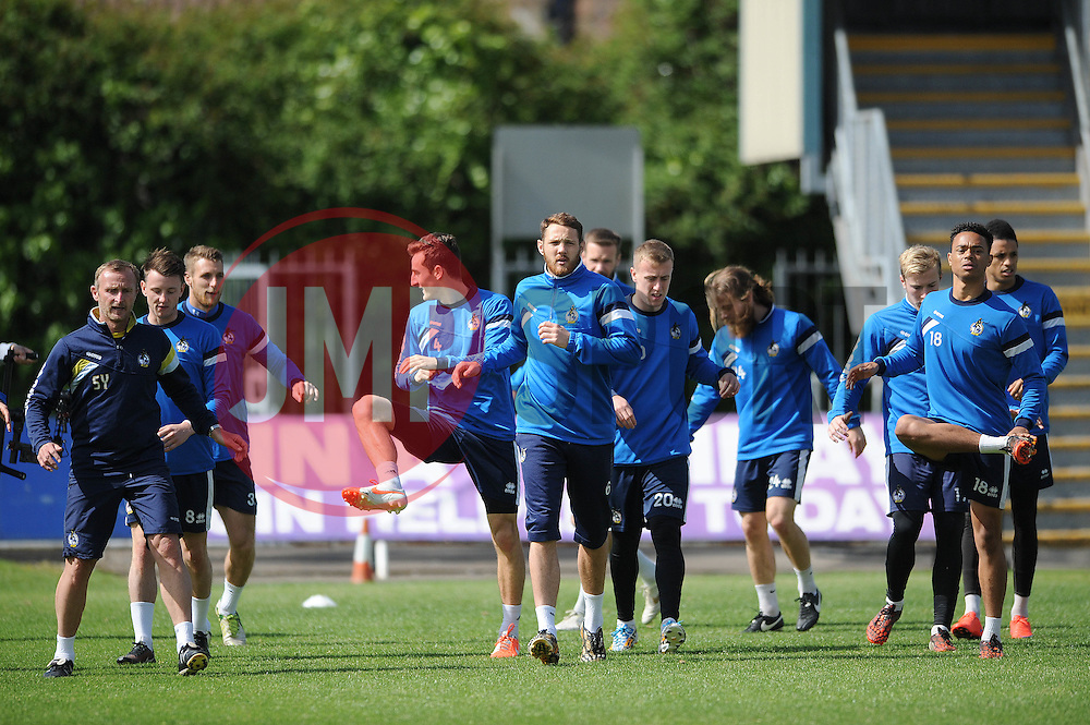 Bristol Rovers train ahead of the Vanarama Conference play-off final - Photo mandatory by-line: Dougie Allward/JMP - Mobile: 07966 386802 - 12/05/2015 - SPORT - Football - Bristol - Memorial Stadium - Bristol Rovers v Grimbsy Town - Vanarama Football Conference