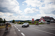 Bereich der ehemaligen Grenzstation in Dolni Dvoriste - von 1955 bis 1989 lag der Ort am Eisernen Vorhang.