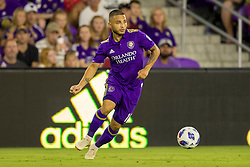 August 4, 2018 - Orlando, FL, U.S. - ORLANDO, FL - AUGUST 04: Orlando City midfielder Josue Colman (10) during the soccer match between the Orlando City Lions and the New England Revolution on August 4, 2018 at Orlando City Stadium in Orlando FL. (Photo by Joe Petro/Icon Sportswire) (Credit Image: © Joe Petro/Icon SMI via ZUMA Press)