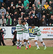Celtic&rsquo;s Virgil van Dijk congratulates Stefan Johansen after the second goal  - Dundee v Celtic, William Hill Scottish Cup fifth round at Dens Park <br /> <br /> <br />  - &copy; David Young - www.davidyoungphoto.co.uk - email: davidyoungphoto@gmail.com