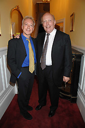 Left to right, actorsNICKOLAS GRACE and JULIAN FELLOWES at a party to celebrate the 21st birthday of one of their horses Leopold, held at 35 Sloane Gardens, London W1 on 10th September 2007.<br />