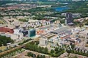 Nederland, Flevoland, Almere, 14-07-2008; Stadshart - bouw en ontwikkeling van nieuw centrum van de stad met uitgaansgelegenheden, winkels en wonen;.naar masterplan van architectenbureau OMA van Rem Koolhaas. .luchtfoto (toeslag); aerial photo (additional fee required); .foto Siebe Swart / photo Siebe Swart .