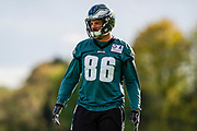Philadelphia Eagles Zach Ertz TE (86) during the press, training and media day for Philadephia Eagles at London Irish Training Ground, Hazelwood Centre, United Kingdom on 26 October 2018. Picture by Jason Brown.