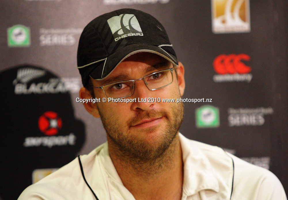 NZ captain Daniel Vettori after the loss.<br /> 1st cricket test match - New Zealand Black Caps v Australia, day five at the Basin Reserve, Wellington. Tuesday, 23 March 2010. Photo: Dave Lintott/PHOTOSPORT
