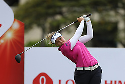 April 13, 2018 - Kapolei, HI, U.S. - KAPOLEI, HI - APRIL 13: Brooke Henderson of Canada hits her tee shot at the ninth hole during the third round of the LPGA Tour LOTTE Championship at the Ko Olina Golf Club, Friday, April 13, 2018, in Kapolei, HI. (Photo by Darryl Oumi/Icon Sportswire) (Credit Image: © Darryl Oumi/Icon SMI via ZUMA Press)