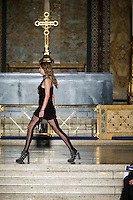 Anna Ewers walks the runway wearing Alexander Wang Fall 2016 during New York Fashion Week on February 13, 2016
