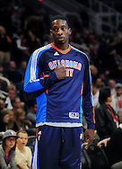 Feb. 4, 2011; Phoenix, AZ, USA; Oklahoma City Thunder forward Jeff Green reacts on the court against the Phoenix Suns at the US Airways Center. The Thunder defeated the Suns 111-107. Mandatory Credit: Jennifer Stewart-US PRESSWIRE