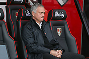 Manchester United Manager Jose Mourinho during the Premier League match between Bournemouth and Manchester United at the Vitality Stadium, Bournemouth, England on 3 November 2018.