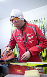 Gianluca Marcolini in the service center of Slovenian Nordic team at FIS Nordic World Ski Championships Liberec 2008, on February 22, 2009, in Vestec, Liberec, Czech Republic. (Photo by Vid Ponikvar / Sportida)