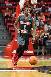 08 November 2015: Paris Lee(1). Illinois State Redbirds host the Southern Indiana Screaming Eagles and beat them 88-81 in an exhibition game at Redbird Arena in Normal Illinois (Photo by Alan Look)