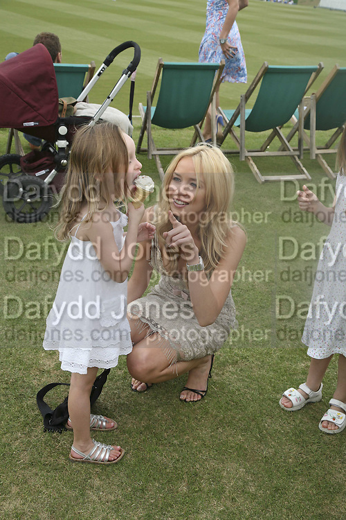 MINTY MELLON AND NOELLE RENO. Guy Leymarie and Tara Getty host The De Beers Cricket Match. The Lashings Team versus the Old English team. Wormsley. ONE TIME USE ONLY - DO NOT ARCHIVE  © Copyright Photograph by Dafydd Jones 66 Stockwell Park Rd. London SW9 0DA Tel 020 7733 0108 www.dafjones.com