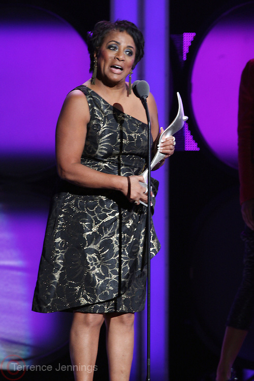 16 October 2010- Bronx, New York- Major General Marcelite J. Harris accepts her ' Trail Blazer  Award ' at the The Black Girls Rock! Awards Show held at The Paradise Theater on October 16, 2010 in the Bronx, New York. ..Since 2006, BLACK GIRLS ROCK! has been dedicated to the healthy development of young women and girls. BLACK GIRLS ROCK! seeks to build the self-esteem and self-worth of young women of color by changing their outlook on life, broadening their horizons, and helping them to empower themselves. For the past four years, we have enjoyed the opportunity to enrich the lives of girls aged 12 to 17 years old through mentorship, arts education, cultural exploration and public service. At BLACK GIRLS ROCK!, young women are offered access to enrichment programs and opportunities that place special emphasis on personal development through the arts and cooperative learning. Photo Credit: Terrence Jennings..