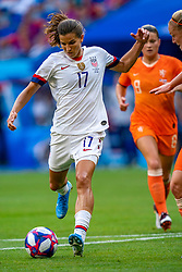 07-07-2019 FRA: Final USA - Netherlands, Lyon<br /> FIFA Women's World Cup France final match between United States of America and Netherlands at Parc Olympique Lyonnais. USA won 2-0 / Tobin Heath #17 of the United States