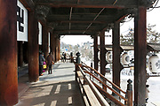 front entrance Zenko-ji temple Nagano Japan