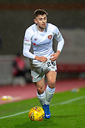 Marcus Godinho (#26) of Heart of Midlothian during the William Hill Scottish Cup quarter final replay match between Heart of Midlothian and Partick Thistle at Tynecastle Stadium, Gorgie, Edinburgh Scotland on 12 March 2019.