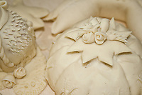 close-up of bread decoration of Sardinian bread Pani Pintau