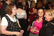 (from left) Debby Menzel of Camp Fire USA, Stephanie Bush of Crayons to Classrooms and Deborah Seger of Crayons to Classrooms during the Better Business Bureau's Eclipse Integrity Awards dinner at the Ponitz Center at Sinclair Community College in downtown Dayton, Tuesday, May 8, 2012.
