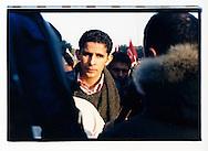Manifestazione nazionale contro la legge Bossi-Fini sull'immigrazione. Roma, 19 gennaio 2002.