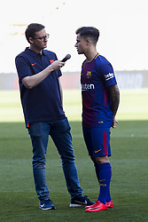 January 8, 2018 - Barcelona, Catalonia, Spain - January 8, 2017 - Camp Nou, Barcelona, Spain -Presentation of Philippe Coutinho as new player of the FC Barcelona, in Barcelona. (Credit Image: © Eric Alonso via ZUMA Wire)